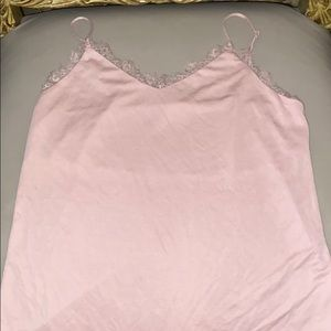 Lacey pink tank top
